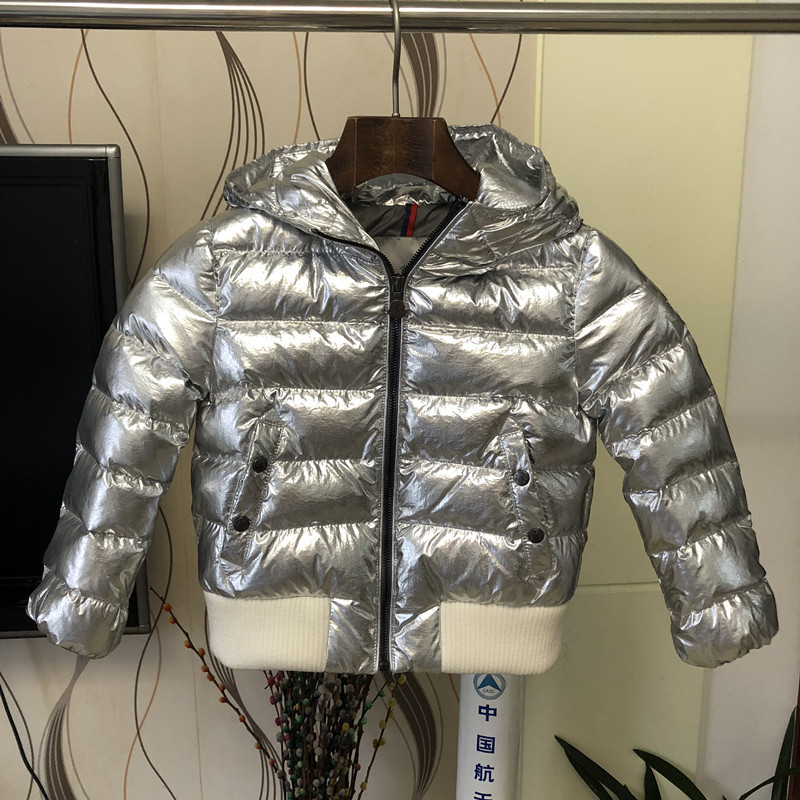 Kids Winter Down Coat 2018 New Brand Fashion Silvery Unisex Winter Parkas for Teenagers Girls Warm Coat High Quality Overcoat