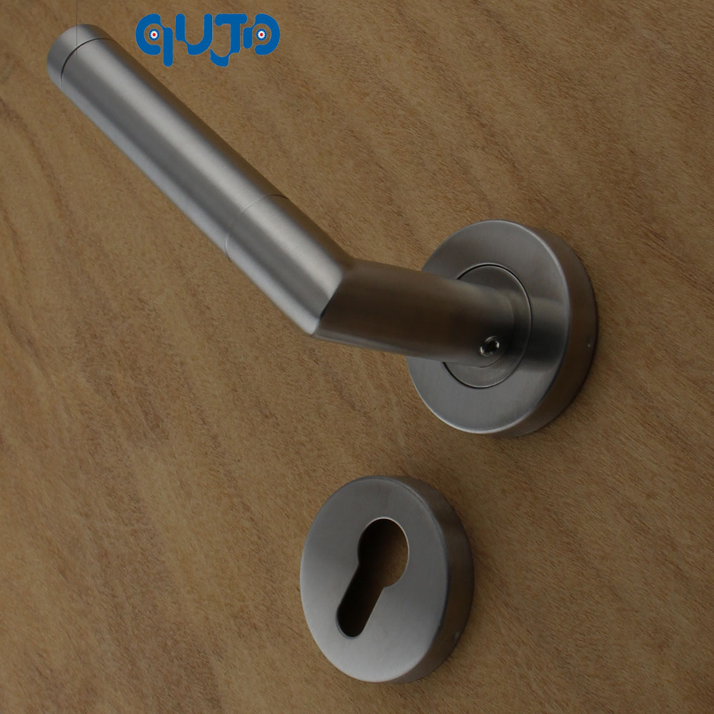 Grade 1 Commercial Tube Door Handles Lever On Rose Door Handle Bedroom Door  Lever Handles Satin Color Handle  In Door Handles From Home Improvement On  ...