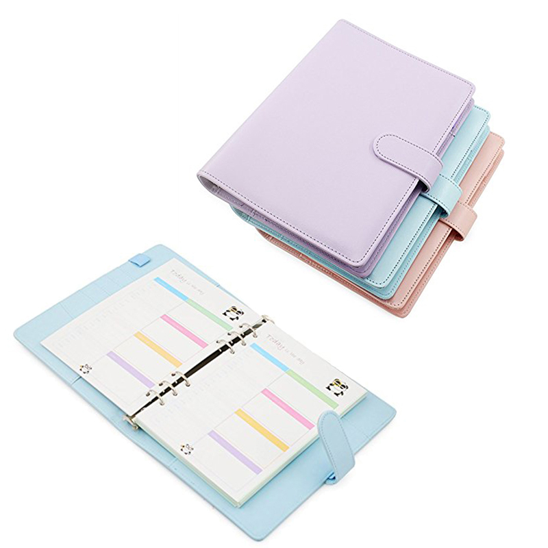 Fashion Theme A5 PU Leather Note Creative Year Plan Notebook 365 Days Inner Page Binder Planner Diary Notebook Travel Journal my beauty diary 10 page 5