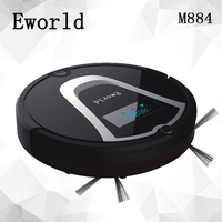 E World M884 Automatic Floor Cleaning Robot Mop Scrub Vacuum Cleaner Wet And Dry Cleaning Auto