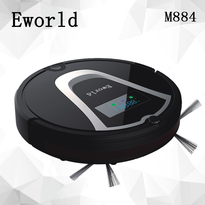 Eworld M884 Automatic Floor Cleaning Robot Mop Scrub Vacuum Cleaner Wet and Dry  Cleaning Auto Charge Smart Robotic philips brl130 satinshave advanced wet and dry electric shaver