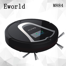 Eworld M884 Automatic Floor Cleaning Robot Mop Scrub Vacuum Cleaner Wet and Dry  Cleaning Auto Charge Smart Robotic