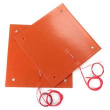 Silikon ısıtıcı ped 120*120/200*300/300*300/310*310 MM Silikon Heatbed 3 M yapıştırıcı için a8 a6 cr10 cr10s 3D Yazıcı yatağı pa...