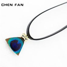 CHENFAN Feather necklaces pendants jewelryRope Chain necklace Trendy Leather short womens gold fashion female jewelry
