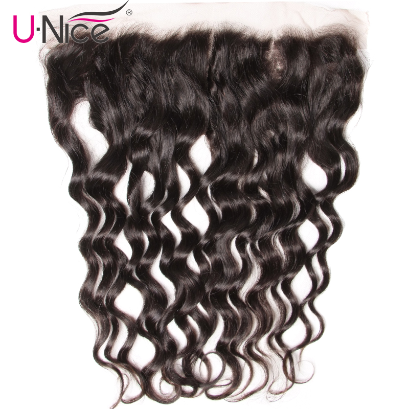 Unice Hair Lace-Frontal Natural-Wave Non-Remy Pre-Plucked 100%Human-Hair Brazilian To