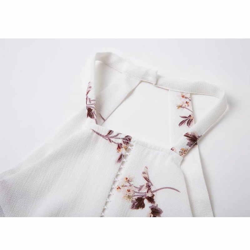 LA-TEE-DA! Летние ELYQ с цветочным принтом без рукавов комбинезоны для женщин леди новая мода полые сексуальный комбинезон Боди для отдыха
