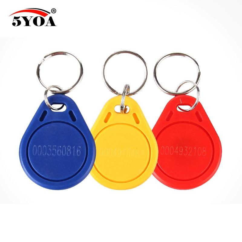 10 pces rfid ler apenas chave fob keyfobs chaveiro anel token 125khz proximidade id cartão chip em 4100/4102 tk4100 controle de acesso