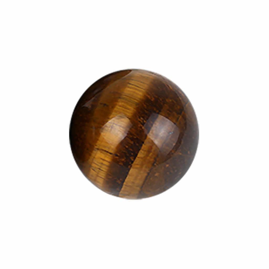 Màu Vàng đậm Châu Á Hiếm Mắt Hổ Thạch Anh Pha Lê Chữa Bệnh Bóng Hình Cầu 2.5mm Đồ Chơi Tự Nhiên Trang Trí Thủ Công Quả Bóng 2.5cm