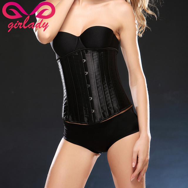 GIRLADY High Quality Waist Trainer Cincher Slimming Belt Women Sexy Shapewear Bustiers Corset Underbust Bodice Girdle Palace New
