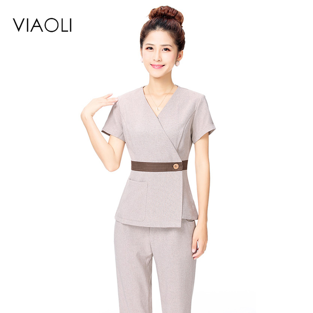 6d3114ba98b1f Viaoli hospital nurse uniform medical work uniform uniform female nursing  scrubs tops + pants suits