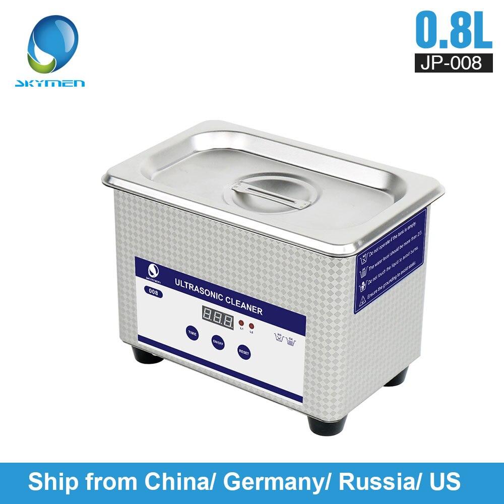 Skymen 800 ml Edelstahl JP-008 Ultraschall Reiniger Bad Digitale Ultraschall Welle Reinigung Tank für Münzen Nagel Werkzeug teil