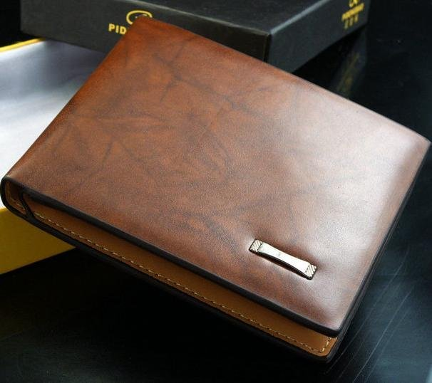 Free shipping2016 new stylish Men wallet+ genuine cow Leather +Pockets RFID Card Clutch Cente Bifold Purse ,dropshipping W-B119