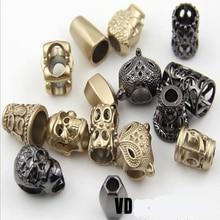 Metal Cord Lock Stopper DIY Pants Cap Rope End Clasp Clips Garment Paracord Shoes Accessories 20 pcs/lot