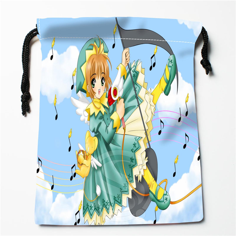 New Sailor Moon Printed Storage Bag 27x35cm Satin Drawstring Bags Compression Type Bags Customize Your Image Gifts