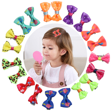 20pcs Bow Hair Clips for Children Color Barrette Cute Pets C