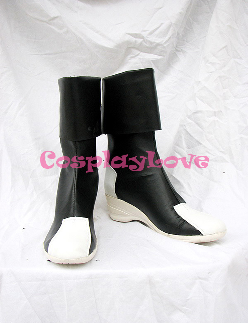 Gundam Seed Destiny Black and White Cosplay Shoes Boots Hand Made Custom made For Halloween Christmas CosplayLove