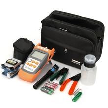 FTTH Tool Kits, Optical Power Meter, Optical Fiber Cleaver, CFS-2 Fiber Optical Stripper, Red Laser Visual Fault Locator Tester недорого