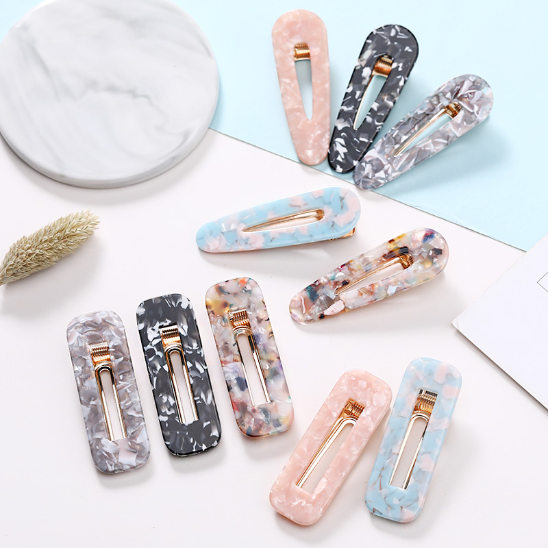 Ins New Women Girls Vintage Leopard Geometric Acetate Hair Clips   Headwear   Barrettes Hairpins Headband Fashion Hair Accessories