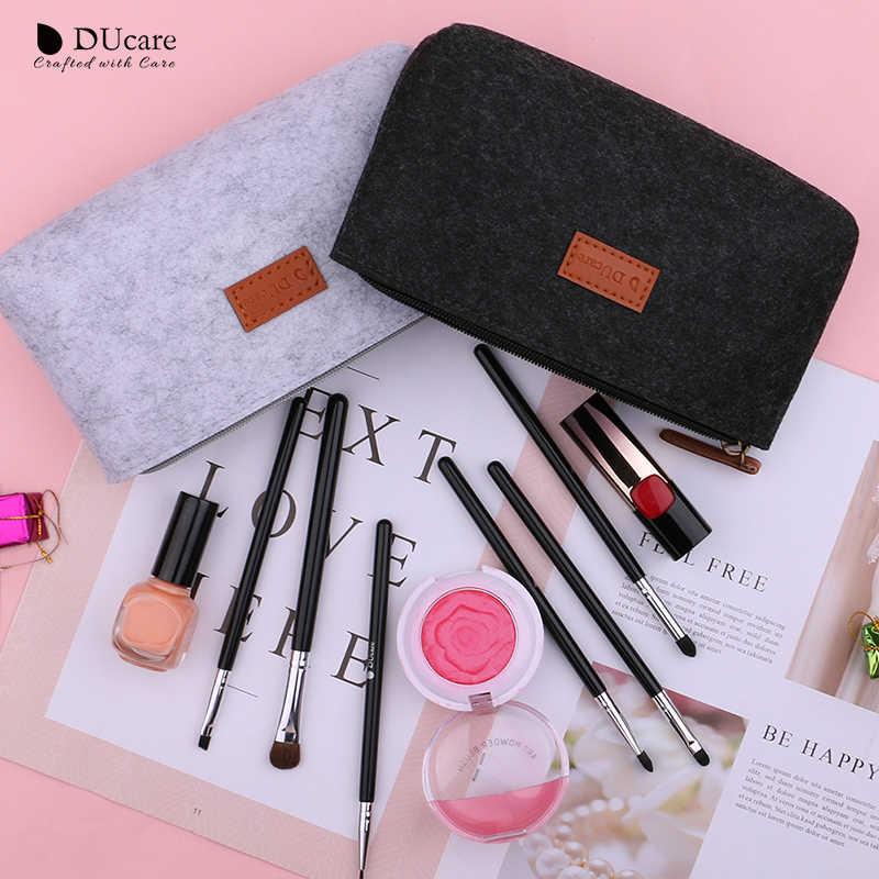 DUcare حقيبة لفرش مساحيق التجميل حقيبة مستحضرات تجميل حقيبة سفر المحمولة حقيبة الجمال ماكياج المنظم أدوات التجميل