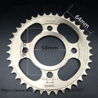 1PCS CBF CG CM CBT125/150 36 38 40 42 43T Motorcycle sprocket/ motorcycle sprocket/Engine Sprocket Teeth/Motorcycle Dirt
