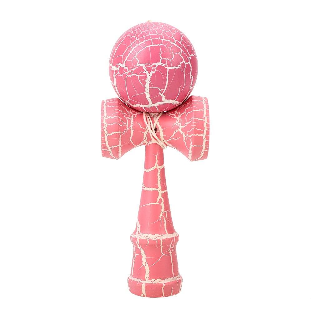 60 мм деревянный шар Kendama Skill Toy Matte Hand-Eye Coordination Lightning красочный привлекательный стержень и мяч детские игрушки мяч