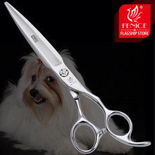 Fenice 7.0 inch Professional Grooming Scissors Straight Cutting Shear Japan 440C Dog Hair Cut Groomer Tools