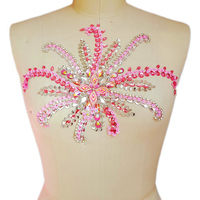 LIght Pink Pure Handmade Sequin Appliques Patch For Clothing Clothes Embroidery Appliques Patch Bridal Sash 24x30cm