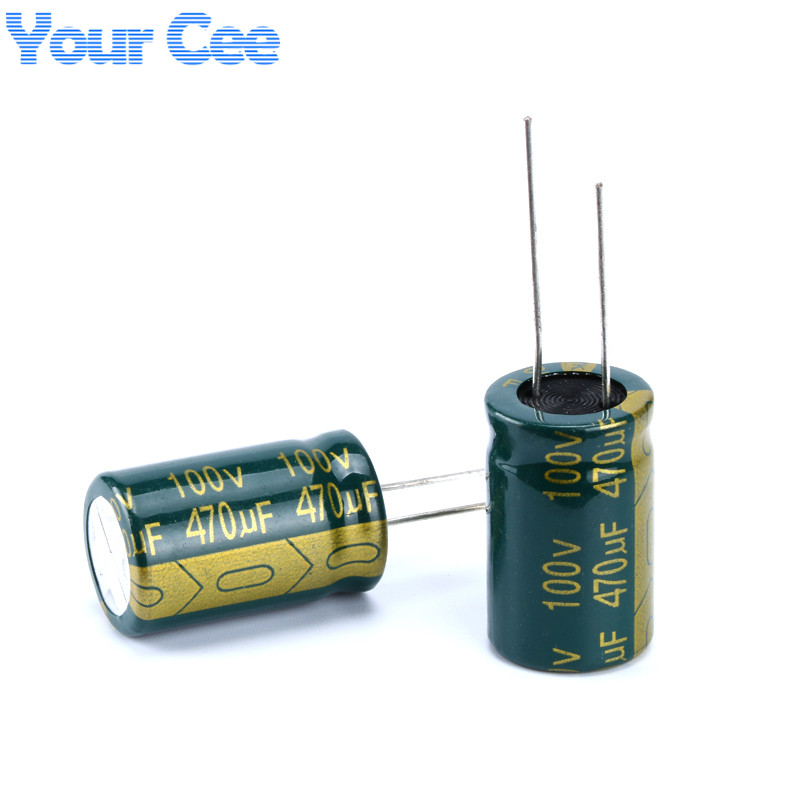 10 pcs Electrolytic Capacitors High Frequency 100v 470uf 16X25MM Good Quality Aluminum Electrolytic Capacitor