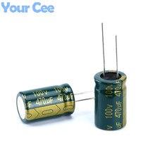 10 шт. электролитический Конденсаторы высокая частота 100 В 470 мкФ 16×25 мм Хорошее качество Алюминий электролитический конденсатор