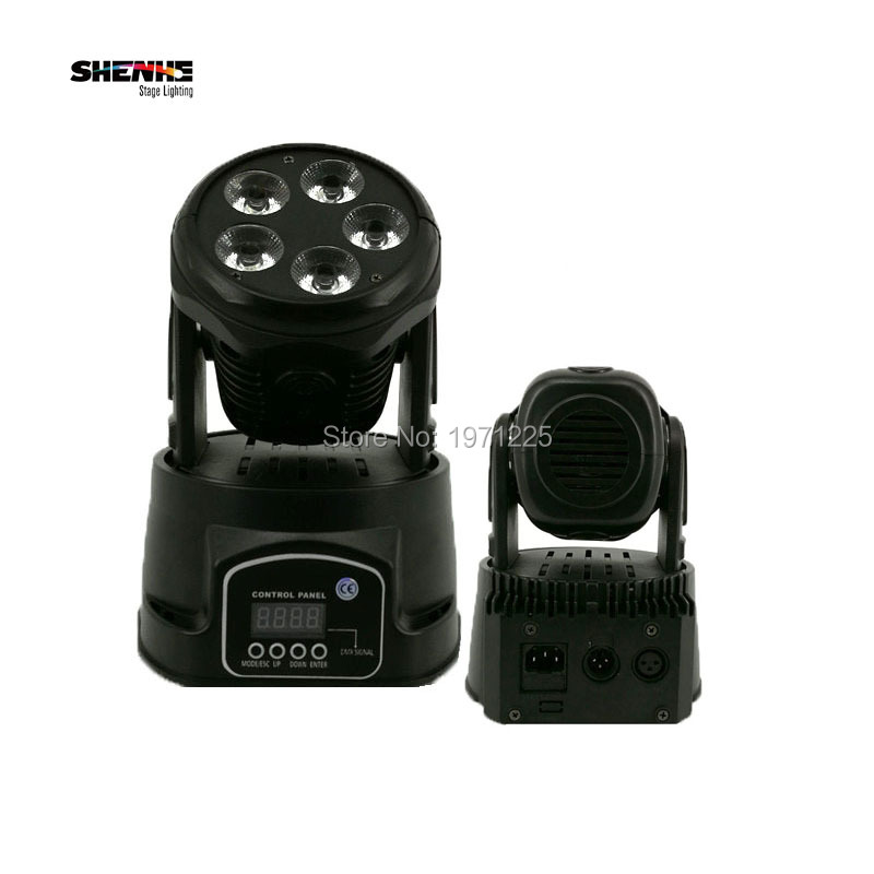 (2pcs) Professional Stage Light  Mini 5x18W Moving Head Led 6in1 Washing Led Lamp with 10/15CHs for DMX DJ Disco Events niugul dmx stage light mini 10w led spot moving head light led patterns lamp dj disco lighting 10w led gobo lights chandelier