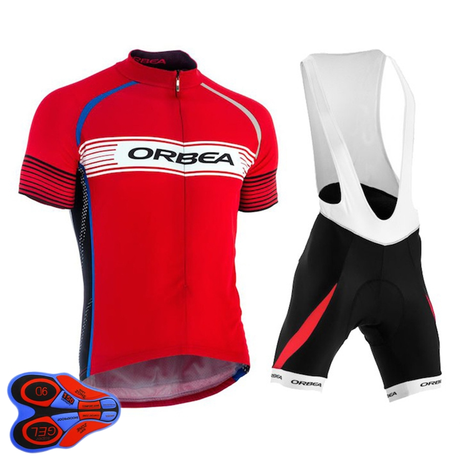 ORBEA Ropa Ciclismo Short Sleeve Cycling Jersey Breathable MTB Cycling Clothing Team Riding Tour de France Bike Bib Shorts Sets arsuxeo breathable sports cycling riding shorts riding pants underwear shorts