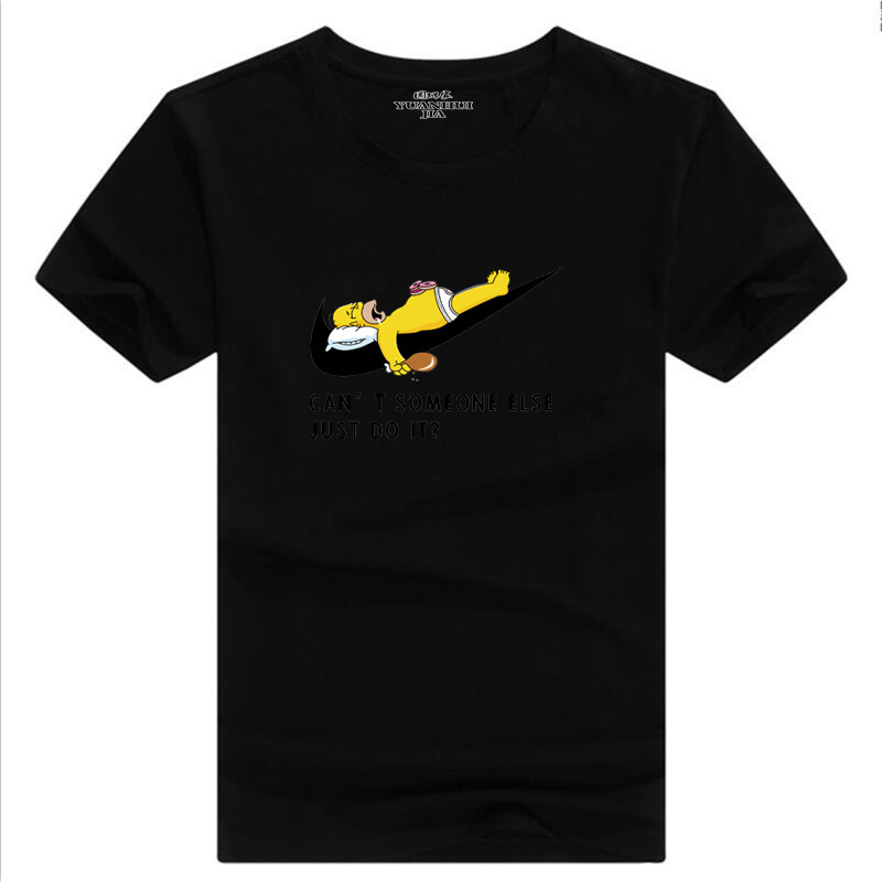бренд 2017, новая мода просто сделай это хип-хоп футболка письмо печати мужчины майка высокого качественный хлопок футболка мужская комиксов con косплей чтобы