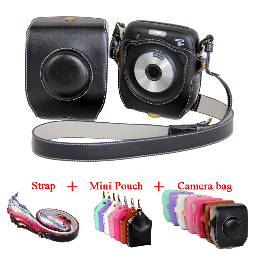 New PU Leather Video Camera Case Cover For Fujifilm Instax SQ10 Fuji SQ10 camera bag with