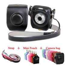 Новинка PU кожа видео Камера чехол для Fujifilm Instax SQ10 Fuji SQ10 камеры сумка с ремешком чёрный; коричневый