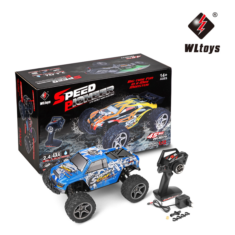 original wltoys wl k979 super rc racing car 4wd 2 4ghz drift remote control toys high speed 30km h electronic off road rc cars WLtoys 12402 RC Cars 1/12 4WD Remote Control Drift Off-road Rar High Speed Bigfoot car Short Truck Radio Control Racing Cars