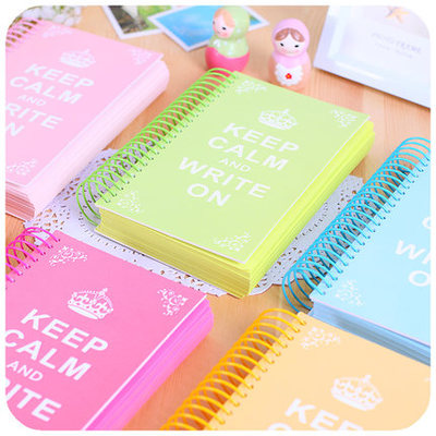Crown Candy Color Page Coil Blank Spiral Notebook Planner Journals Daily Weekly Plan Handbook School Stationery
