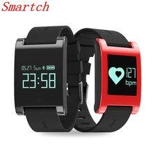 Smartch DM68 Smart запястье heartrate артериального давления кислорода оксиметр спортивные часы браслет Интеллектуальная для IOS Android PK R5 mA