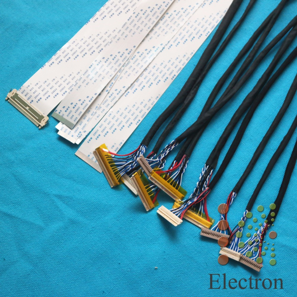 15pcs/lot LCD Screen Wire Kit 26cm Support Universal LVDS FFC TTL Ribbon Flat Cable For 12''-32'' LED LCD Driver Board Connected