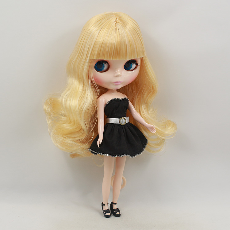 bonecas Blyth doll nude gold bangs long hair 12 inch fashion dolls cute DIY blyth doll for saleFree shipping