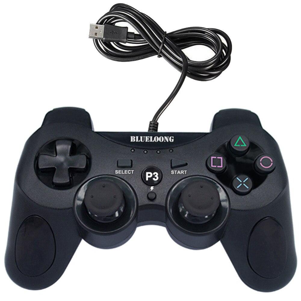 POUR PC USB Filaire Gamepad Joystick Pour Sony PS3 contrôleur Dualshock Sony Playstation 3 console de jeu pour PC/Jouer station 3