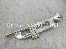 BULUKE yüksek kaliteli trompet orijinal gümüş kaplama altın anahtar düz Bb profesyonel trompet çan üst müzik aletleri