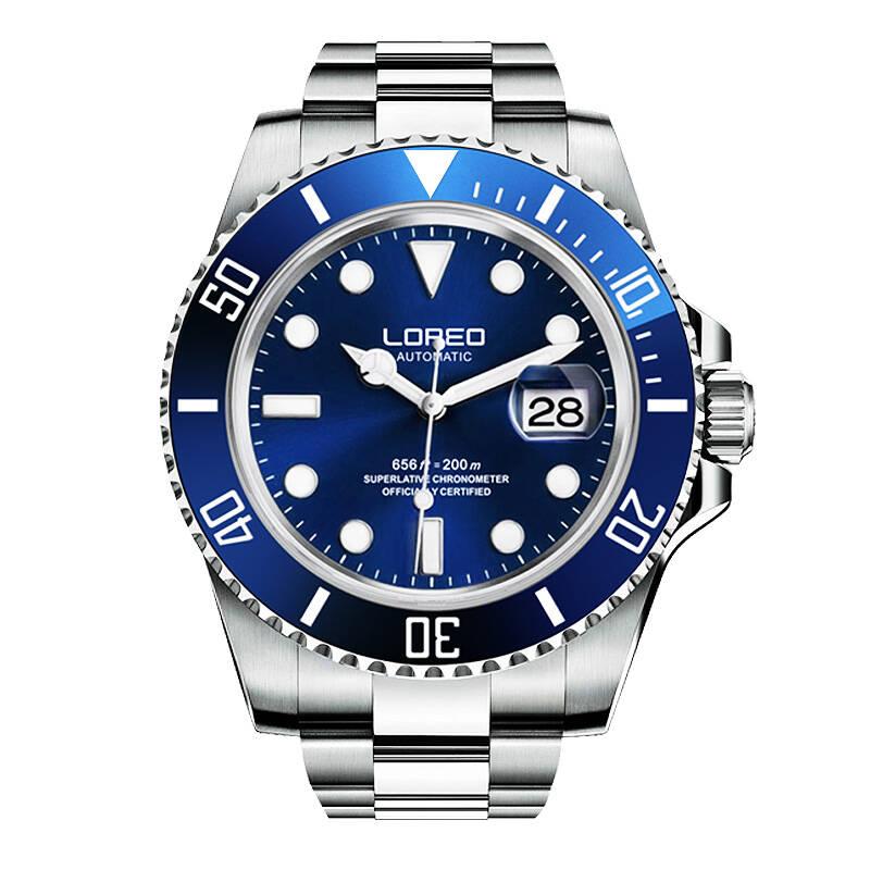 LOREO 9201 allemagne montres plongeur 200 M oyster perpétuel automatique mécanique classiques saphir lumineux étanche plongeur montre