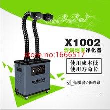Поглотитель дыма для паяльных работ Вытяжка Воздуха Очиститель фильтр X1002 CE с двойной головкой абсолютно rh