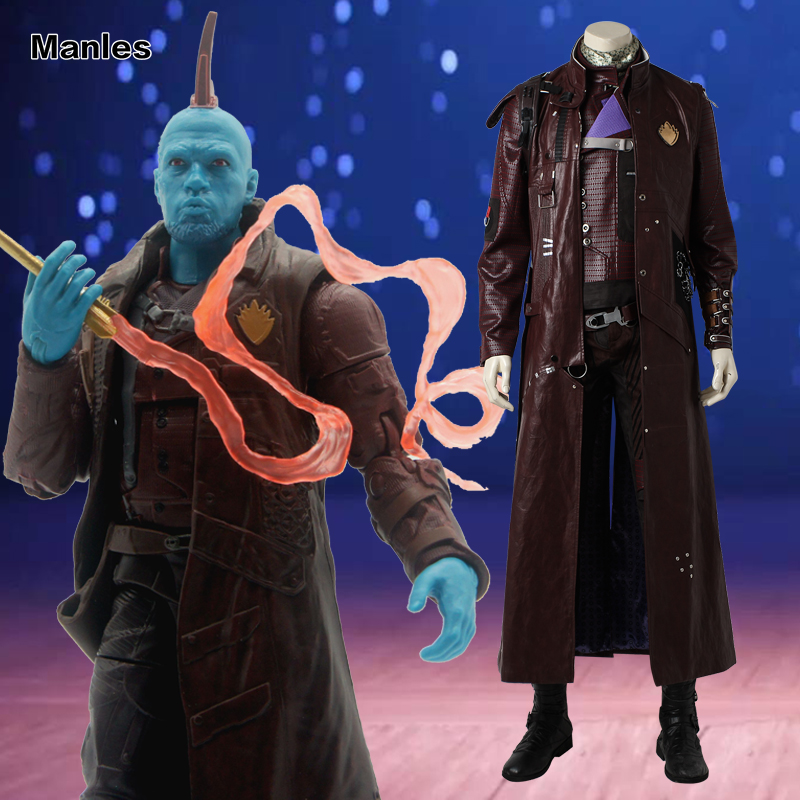 Guardians of the Galaxy Vol. 2 Yondu Udonta Cosplay Costume Halloween Carnival Outfit Adult Men Full Set With Boots Movie Suit
