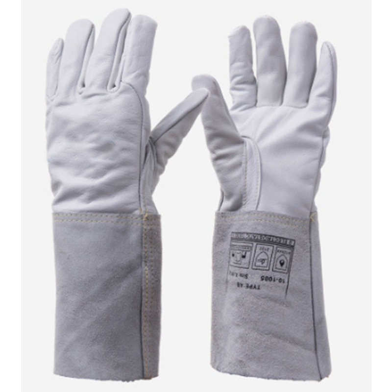 New 2018 10-1005 Protection Welding Llove Hand Long Sleeves MIG TIG Welder Welding Welding Cowhide work Gloves China Low Prices oxygen welder safety gloves long sleeve tig mig welding work gloves