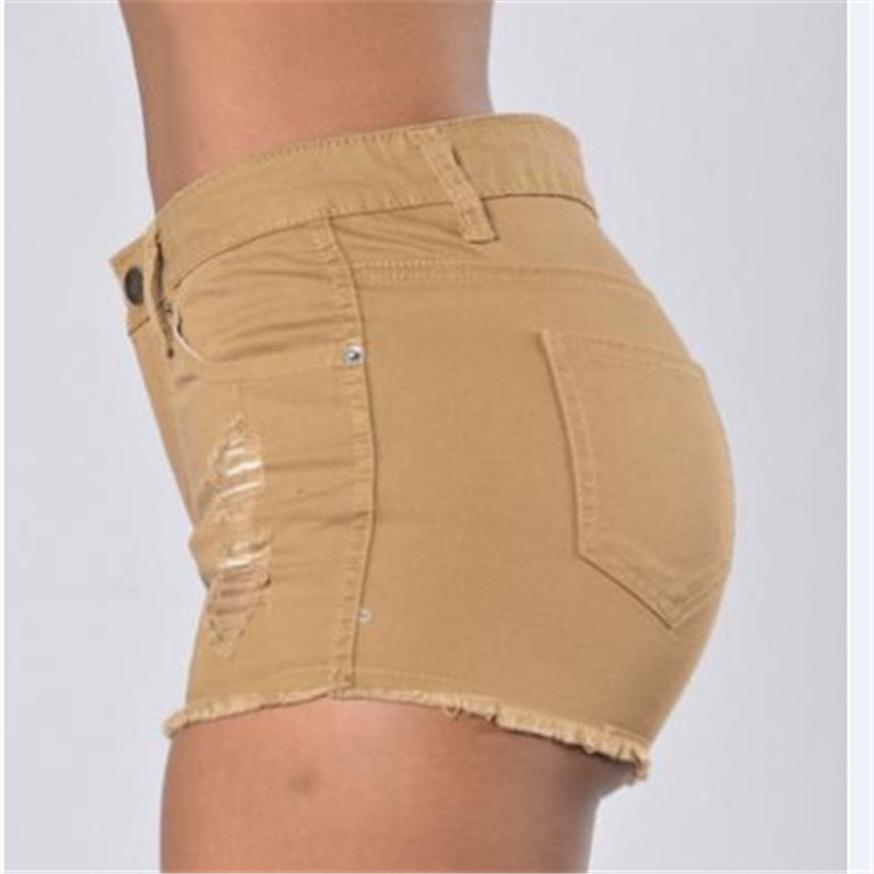 Ripped Khaki Shorts