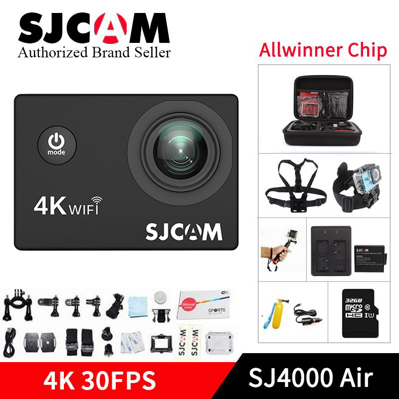 SJCAM SJ4000 AIR 4k WIFI Action Camera 1080P Full HD 4K 30fps WiFi Sport DV 2.0 Mini camcorder sj 4000 go pro yi 4k bicycle cam campark wifi sport action camera 2k hd 30fps hd 1 5 tft lcd 1080p 60 fps 16mp action cam digital camcorder hdmi output