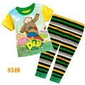 Niñas didi y amigos de la ropa del bebé de la historieta pijamas niños pijamas de verano de manga corta de los niños ropa de noche 8353