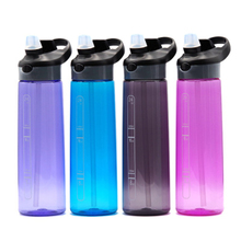 700ML Large Capacity Sports Drinking Water Bottle With Straw Lid For Portable Outdoor Tour Hiking Camping Tritan