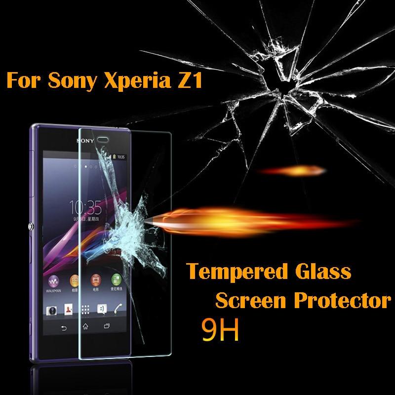 För Xperia Z1 härdat glas skärmskyddsfilm för SONY Xperia Z1 L39H - Reservdelar och tillbehör för mobiltelefoner - Foto 1